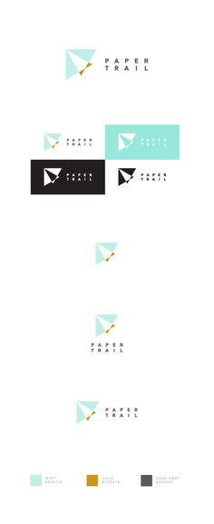 Paper Trail logo #branding #identity