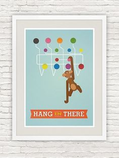 Mid Century Poster Retro print Quote art Inspirational by handz #modern #quote #print #retro #danish #atomic #mid #poster #century #eames