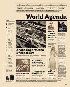 IL34 — World Agenda | Flickr – Compartilhamento de fotos! #grid #spread #magazine