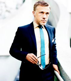 Fashion photography(Christoph Waltz, via allthingsstylish)