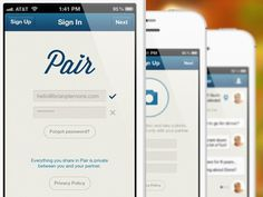 Dribbble - Pair App by Brian Plemons