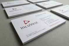 IncuVest Identity on Behance #business #branding #card #design #identity #name #stationery #singapore #cards