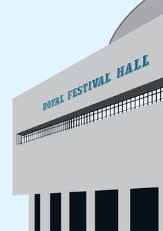 Royal Festival Hall Print #festival #print #royal #stefi #hall #orazi