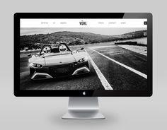 VUHL on Behance #design #clean #monochrome #cars #racing #web #mac