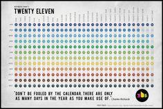 365 Concepts (TWENTY ELEVEN - 2011 calender.) #calender #2011 #365 #concepts #eleven #illustration #twenty