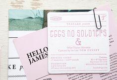 Eggs No Soldiers | Serifs & Sans #corporate #print #graphic