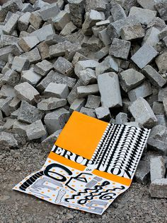 eruption #bricks #orange #poster