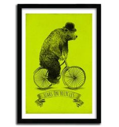 BEARS ON BICYCLES by Eric Fan #print #art