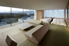 Japan Kyoto Kokusai Hotel Bedroom 03 – by Kengo Kuma and Associates | Fresshome.Com #interior design #kyoto