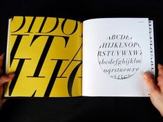 Dever Elizabeth #specimen #yellow #color #book #two #diecut #didot #type #layout #typography