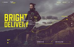 diadora - make it bright #design #web #typography #yellow