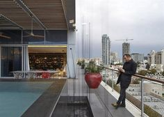 Tel Aviv penthouse by Pitsou Kedem / www.homeworlddesign.com #tel #aviv #penthouse