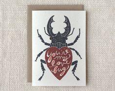 Valentine Card Love Bug #typography