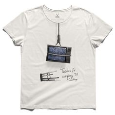 #thanks tv #offwhite #tee #tshirt #zeitgeist #tv #execution #screen #media #anarchy #white