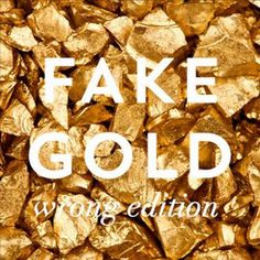 "Our new aluminium originals series. ""FAKE GOLD / wrong edition"" #gold #black #metal #aluminium #prints"