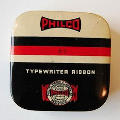 Vintage Packaging: Typewriter Tins - TheDieline.com - Package Design Blog #typography #packaging #typewriter ribbon