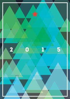 NY 2015 poster #new #year #2015 #christmas #tree #star #green #abstract #poster #minimalism #flat