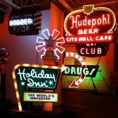American Sign Museum in Cincinnati « Visualingual #sign #type #vintage #neon