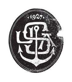 FFFFOUND! | Jon Contino, Alphastructaesthetitologist #logo #anchor #distress