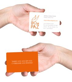 Rio de Paz - business card #visual #branding #rio #design #graphic #orange #song #de #identity #type #paz