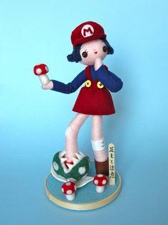 Watch Your Step for Super iam8bit Show on the Behance Network #plush #mario #nintendo #girl #shine