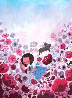 Dorothy in the Poppy Field #sillo