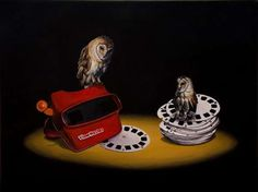 Owls in animal art #surrealism #realism #painting #paintings #art #animal