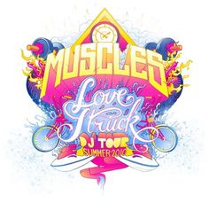 MONAUX ~ Illustration, Typography, Design » Muscles #illustration #colour #monaux #typography