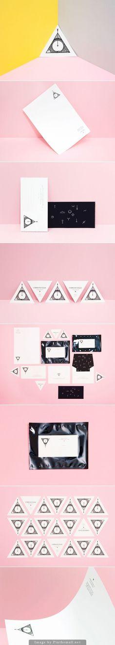 . #logotype #stationary #business #geometric #triangle #identity #cards