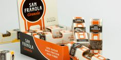San Franola Granola The Dieline #orange #black