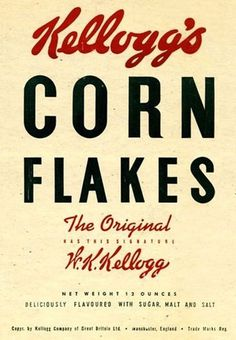 Kellogg Corn Flake packets since the 1950s | Art and design | guardian.co.uk #design #kelloggs #original #flakes #corn #packging