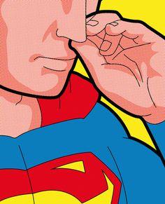 Secret Hero Life Pop icons @ ShockBlast #illustration #superheroes #superman #pop