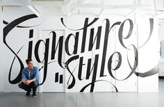 Signature Style – Designlines Mural #typography #hand lettering #script #type #wallmural