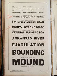 ARKANSAS RIVER EJACULATION | Flickr - Photo Sharing! #font #lettering #specimen #design #type #typography