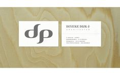 Dineke Dijk Architektin #design #corporate #identity #logo #visit