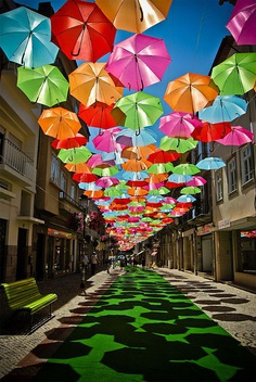 Colourful Floating Umbrellas in Agueda, Portugal – Inspiration Grid | Design Inspiration