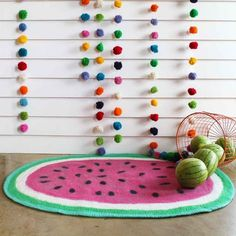 Large View #interior #rug #watermelon