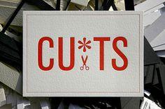 CU*TS Letterpress Postcard on the Behance Network