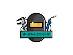 "Logo ""ML metaaltechniek"" #vector #branding #tool #mask #logo"