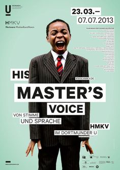 / master's voice #poster #layout