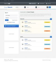 Job board homepage #ui
