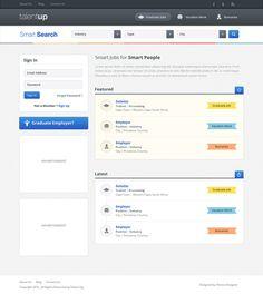 Job board homepage