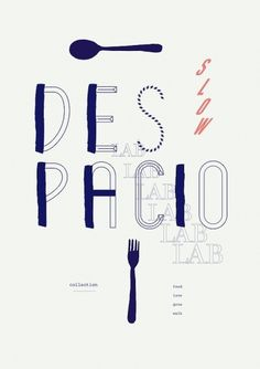 slow life on the Behance Network #blue #editorial #typography