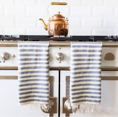 beautiful things #interior #stripes #kitchen