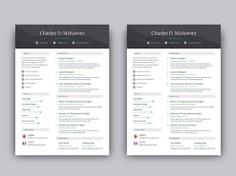 McKeever Resume - Free One Page Resume Template for Job Seeker