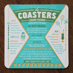 The Coasters on the AIGA Member Gallery #letterpress #typography