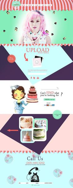 | p h o t o edible | #cake #design #website #parallax #layout