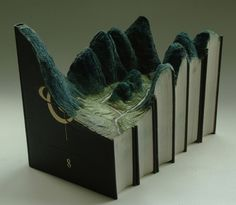 The Great Wall by Guy Laramee #sculpture #book