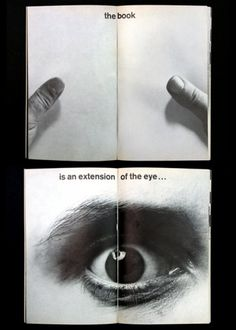 The book is an extension of the eye #design #book #publication