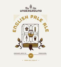 Underground Beer Club Label #beer #label #poster